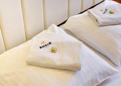 ręczniki hotelu Amber w gdańsku
