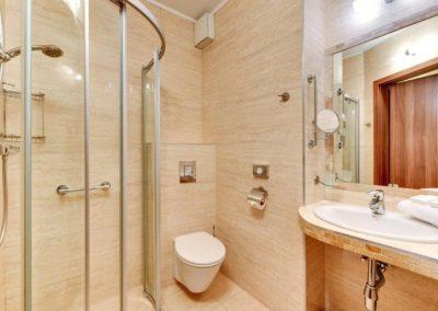 łazienka w hotelu Amber