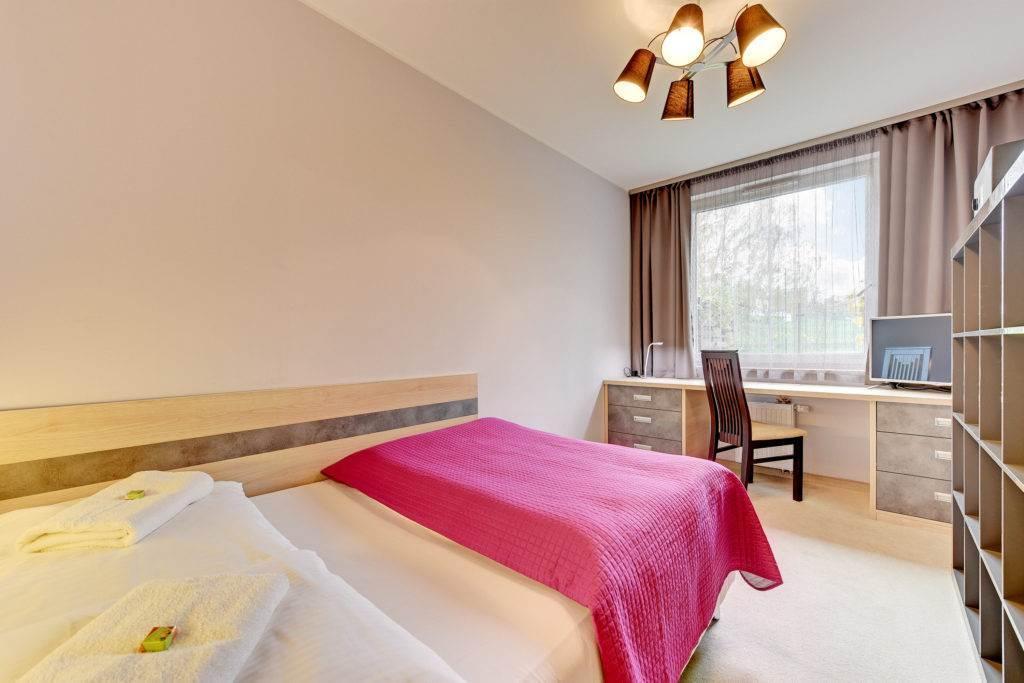 różowe łoże, uno apartamenty