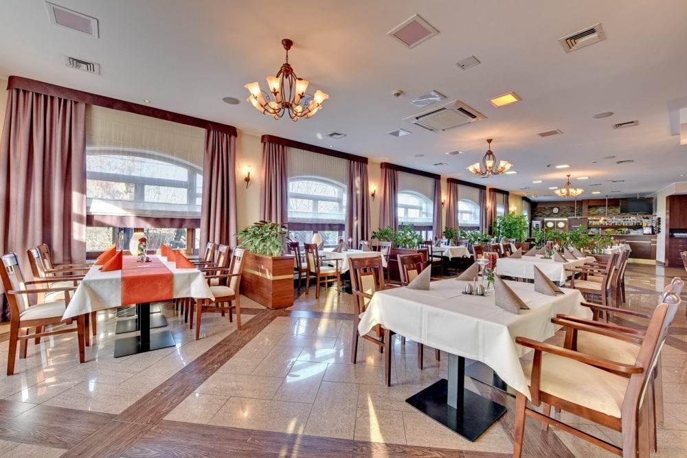 przestronna sala restauracji w Amber Gdańsk