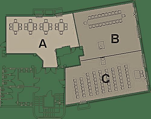 schemat sal konferencyjnych Amber Hotel w Gdańsku